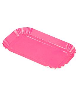 rectangular mini plates 325 g/m2 4x8 cm fuchsia cardboard (100 unit)