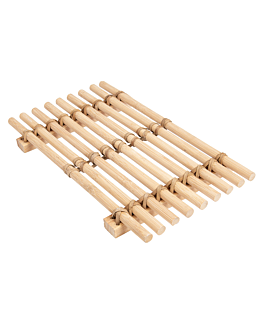 presentation tablemat 26,5x16,2 cm natural bamboo (10 unit)