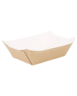containers-corrugated 960 g 10,5x7,2x5,5 cm natural kraft (400 unit)
