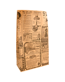 sos bags without handles 'times' 80 gsm 20+9x34,5 cm natural kraft (500 unit)