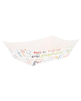 barquettes 'parole' 1440 g 275 g/m2 13,7x8,5x6,5 cm blanc carton (100 unitÉ)