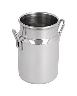 mini pots À lait 145 ml Ø 5x7,5 cm argente inox (12 unitÉ)