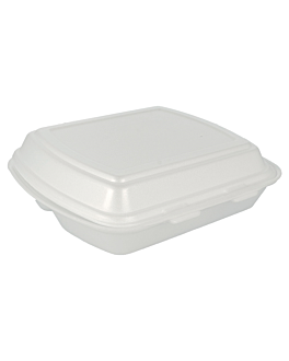 containers 3 compartments 24x21x7 cm white eps (200 unit)