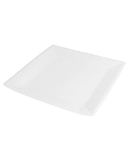 square bio-lacquered plates 262 gsm 23x23 cm white cardboard (400 unit)