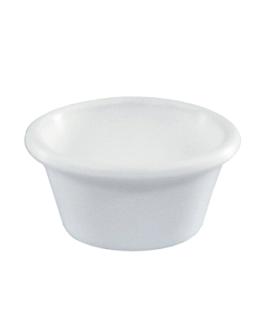 recipientes 45 ml Ø 6 cm branco melamina (144 unidade)