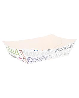 barquettes 'parole' 180 g 250 g/m2 9,3x5,3x3,5 cm blanc carton (100 unitÉ)