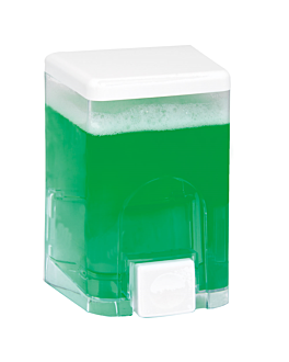 dispensador gel 'visio' 1 l 11,2x9,5x18,8 cm transparente abs (1 unid.)