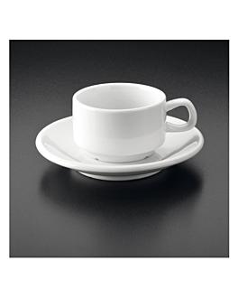 kaffeetassen + untertassen 120 ml weiss porzellan (12 einheit)