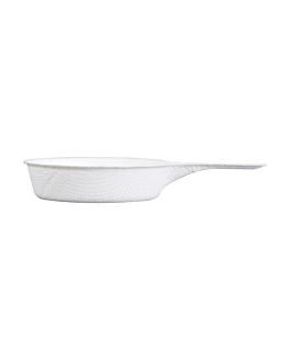 container with handle 'bionic' 9,4x5,7x1,5 cm white bagasse (1000 unit)