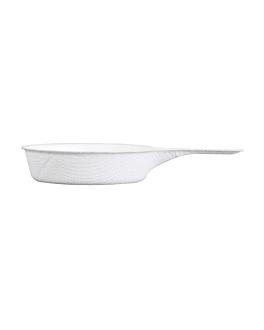 recipiente taza con asa 'bionic' 9,4x5,7x1,5 cm blanco bagazo (1000 unid.)