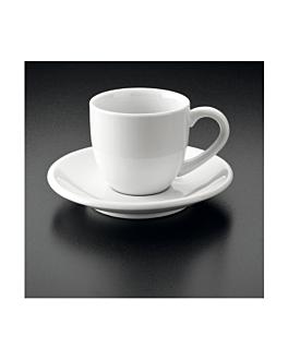 kaffeetassen + untertasse 90 ml 5,5x4,5 cm weiss porzellan (36 einheit)