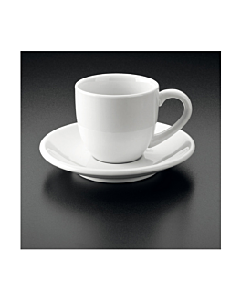 tazze caffÉ + piattino 90 ml 5,5x4,5 cm bianco porcellana (36 unitÀ)