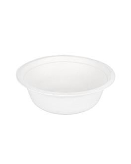 salad bowls 'bionic' 750 ml Ø15,5x8,4 cm white bagasse (600 unit)