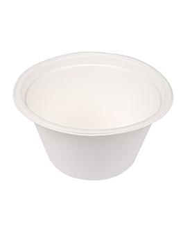 saladiers 'bionic' 750 ml Ø15,5x8,4 cm blanc bagasse (600 unitÉ)