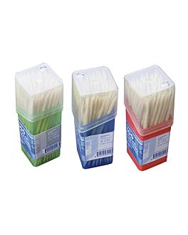 boÎtes de 100 cure-dents ronds 6,5 cm naturel bois (480 unitÉ)