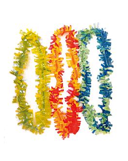 colliers hawaiens 7x90 cm assorti plastique (25 unitÉ)