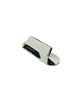 supporti porta etichetta da tavola 8x2 cm argento abs (12 unitÀ)