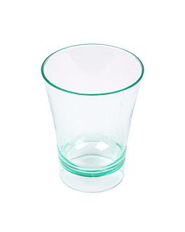 verres mise en bouche 60 ml Ø 5,1x6,5 cm vert d'eau ps (288 unitÉ)