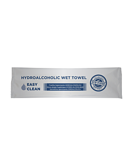 "rince-doigts hydro-alcooliques ""roll-it"" 'easy clean' 50 g/m2 14,5x4 cm blanc cellulose (600 unitÉ)"