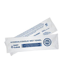 "hydro-alcoholic wipes ""roll-it"" 'easy clean' 50 gsm 14,5x4 cm white cellulose (600 unit)"