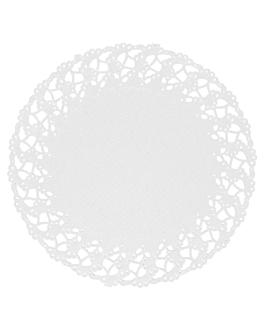 rodales calados 53 g/m2 Ø 14 cm blanco papel (250 unid.)