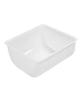 large cocktail container 14x14,5x7,3 cm white pp (1 unit)