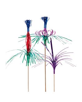 "decorazioni per gelati ""metallizzati"" 18/22 (h) cm colori varie legno (144 unitÀ)"