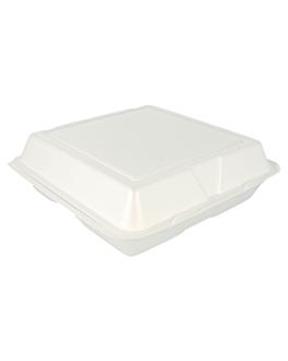 carculla de foam - 3 compartiments 24x24x8 cm blanc pse (200 unitat)