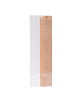 sandwich bags with eco window 'corner window' 40 gsm 12+6x38 cm natural kraft (250 unit)
