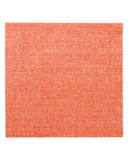 napkins 'like linen - aurora' 70 gsm 40x40 cm tangerine spunlace (600 unit)
