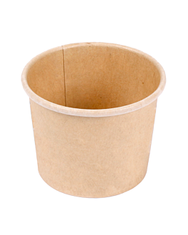 small containers 60 ml 210 + 18 pe gsm Ø6,15/4,75x4,8 cm brown cardboard (1000 unit)