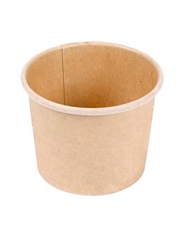 pequeÑas tarrinas 60 ml 210 + 18 pe g/m2 Ø6,15/4,75x4,8 cm marrÓn cartoncillo (1000 unid.)