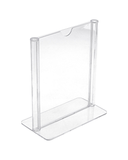 tabletop menu holders din-a7 7,4x10,5 cm clear ps (1 unit)