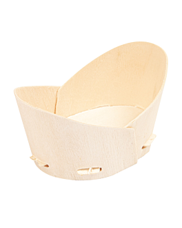 mini containers for appetisers 10,3x6x5,3 cm natural wood (200 unit)