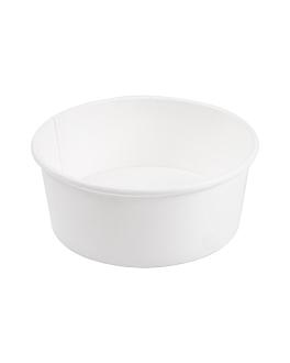 ensaladeras 750 ml 18pe + 340 + 18 pe g/m2 Ø15/12,8x6 cm blanco cartÓn (300 unid.)