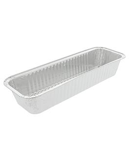 recipientes plum cake 1070 ml 31x10,3x5 cm aluminio (100 unid.)