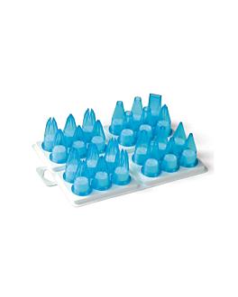 piping nozzles 24 pieces  sky blue polycarbonate (1 unit)