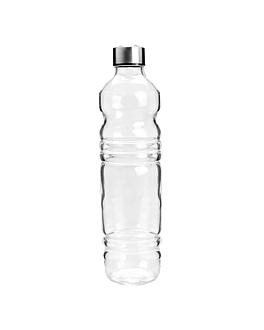 bottiglia + coperchio inox 1080 ml Ø8,2x32 cm trasparente cristal (24 unitÀ)