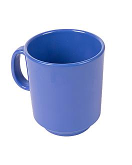 coffee mugs 240 ml Ø 8x9 cm blue melamine (12 unit)