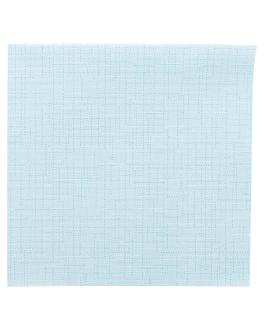 serviettes 'dry cotton' 55 g/m2 40x40 cm turquoise airlaid (700 unitÉ)