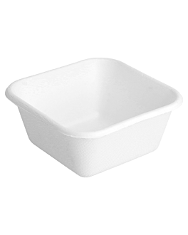 containers 'bionic' 250 ml 9,5x9,5x4,3 cm white bagasse (1000 unit)
