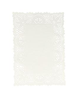 blondas rectangulares caladas 53 g/m2 21x15 cm blanco papel (250 unid.)