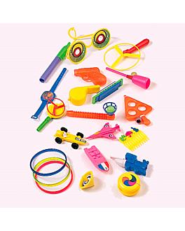 100 u. budget knick-knacks  assorted plastic (1 unit)