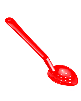 perforated service spoon buffet 33,3 cm red polycarbonate (1 unit)