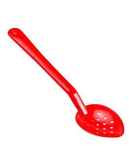 cucchiaio perforata servizio 33,3 cm rosso policarbonato (1 unitÀ)