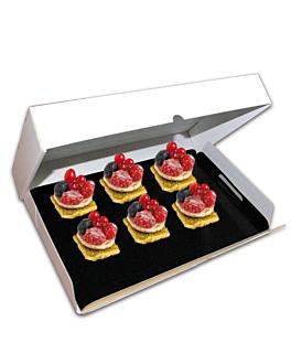 scatole per vassoi, con manici 28x42x6 cm bianco cartone (25 unitÀ)