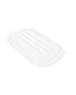 lids lunch box 320.54/55 'bionic' 1000 ml 21,6x13,1x1,3 cm clear pet (500 unit)