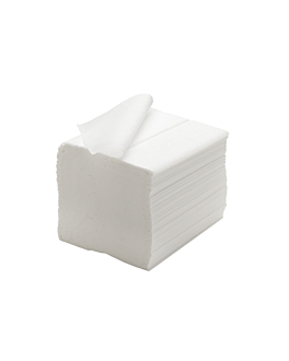 toilet paper in sheets 2 ply - 250 sheets 19x11 cm white cellulose (1 unit)
