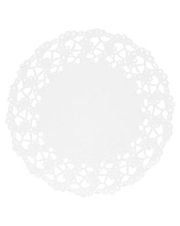 rodales calados 53 g/m2 Ø 11,5 cm blanco papel (250 unid.)