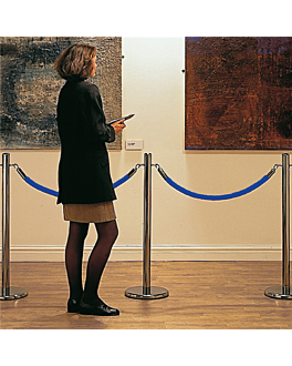 cordon colonne mobile 150 cm Ø 4x150 cm bleu fibre (1 unitÉ)